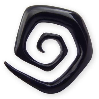 Spiral Stretcher from Horn or Ebony Wood - Squared Spiral