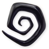 Spiral Stretcher from Horn or Ebony Wood - Squared Spiral 001