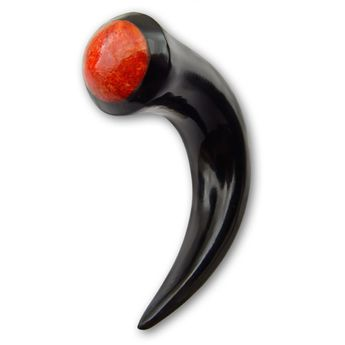 Horn Taper Stretcher with Coral Inlay