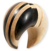 Wood Ear Spiral Stretcher - Bicolor 001
