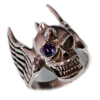 Totenkopf Flügel Ring Silber 925