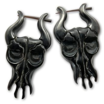 Earrings from Horn - Black Bull