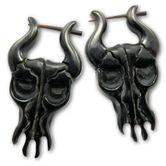 Pendientes de Cuerno - Toro Negro 001