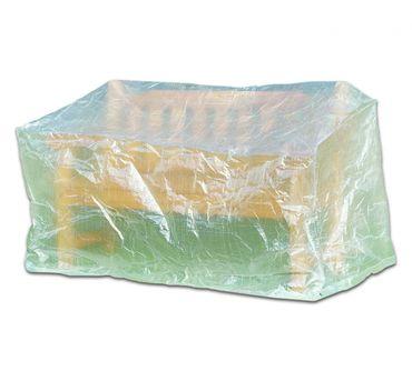 Schutzhülle Abdeckung für Bank Gartenbank 160cm transparent Möbelschutzhülle – Bild 2