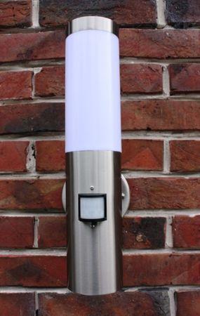 Edelstahl Außenlampe Außenleuchte Infrarot Bewegungsmelder Hoflampe Wandlampe – Bild 1