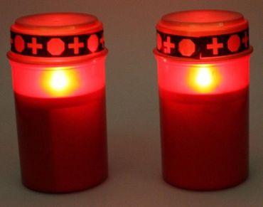 LED-Grablichter 2er Set mit Flackereffekt wie bei einer echten Kerze – Bild 2