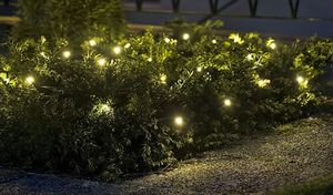 LED-Lichterkette 120 LED´s warmweiß In- & Outdoor Weihnachtslichterkette IP44 24 m – Bild 1