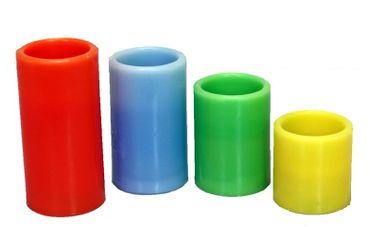 LED-Echtwachskerzen mit Luft-Sensor LED-Kerzen verschiedene Größen und Farben