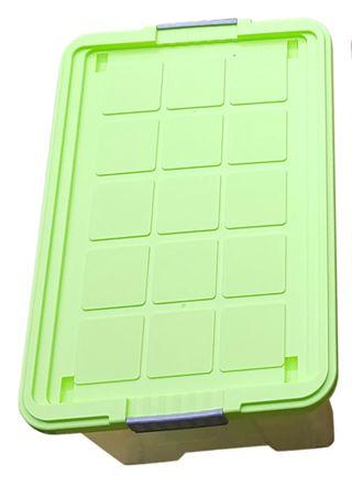 Aufbewahrungsbox, Kunststoffbox, mit Deckel, Stapelbox, versch. Farben 60x40x33 – Bild 3