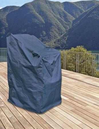 Schutzhülle für Stuhl Schutzhaube Hülle Abdeckung anthrazit 63x66x117 cm