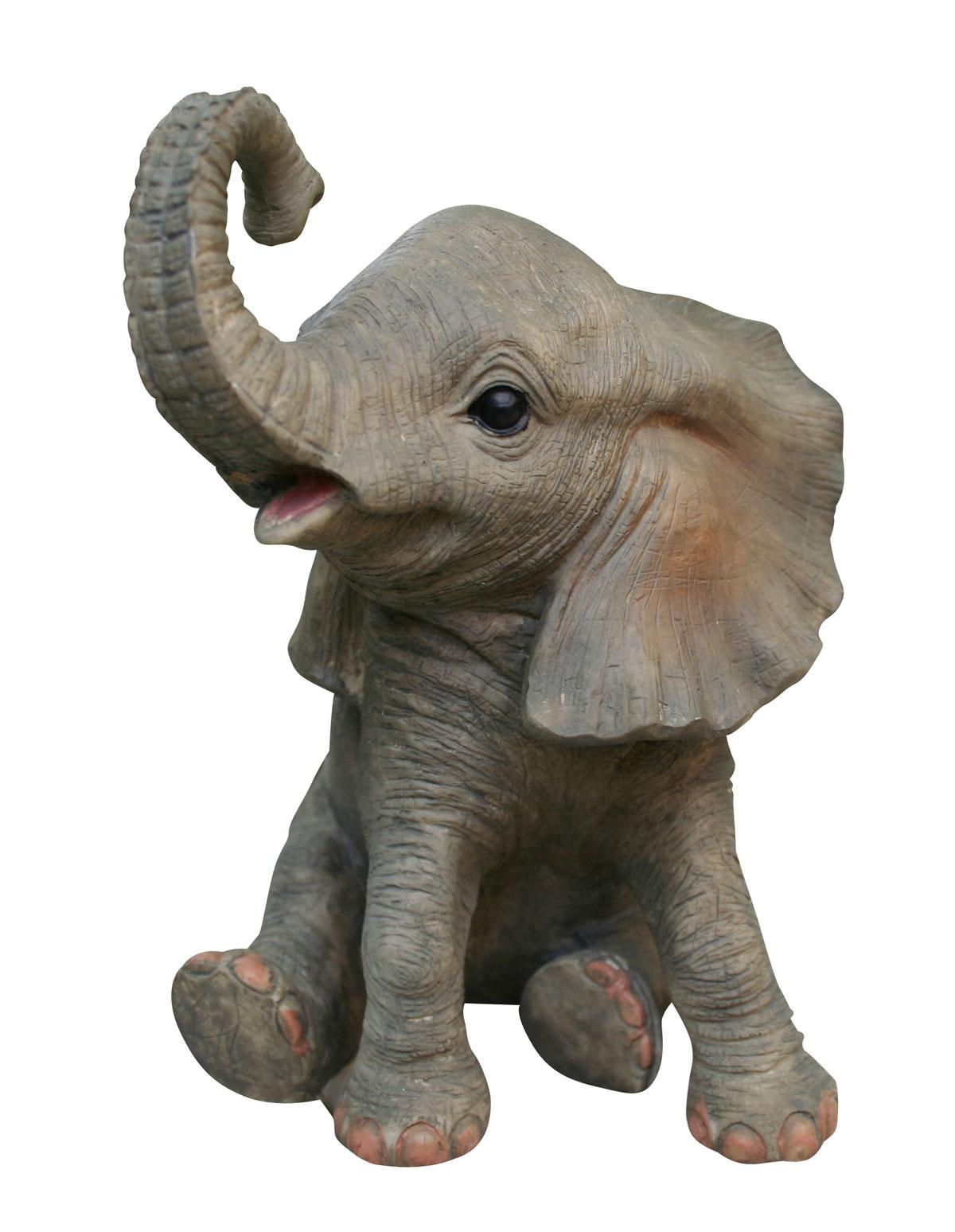 Niedliche dekofigur elefant gl ckselefant afrika deko afrikanische skulptur m bel wohnen - Afrikanische deko ...