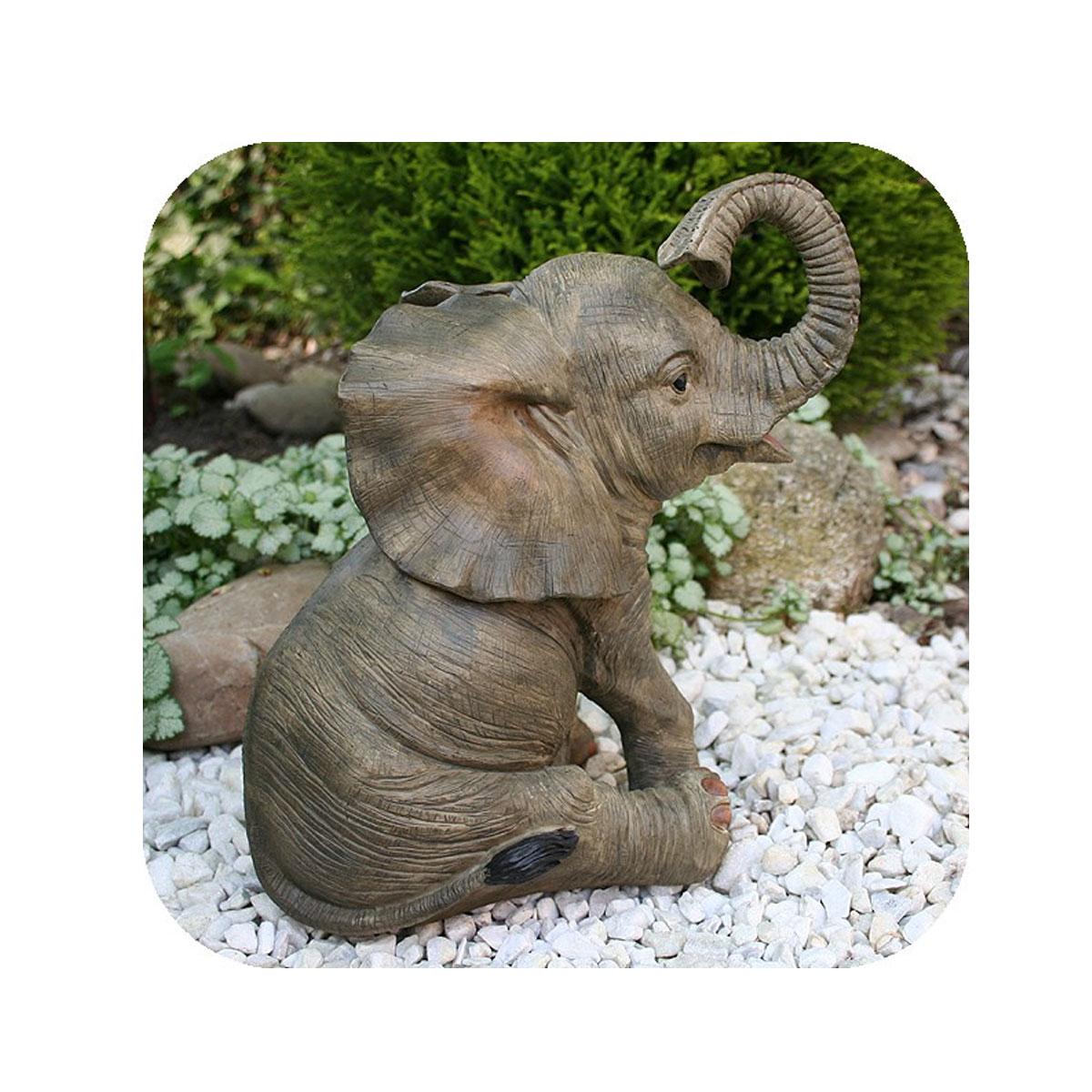 Niedliche dekofigur elefant gl ckselefant afrika deko afrikanische skulptur m bel wohnen - Dekoration afrika ...