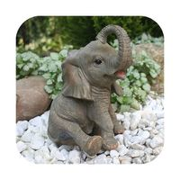 Niedliche Dekofigur Elefant Glückselefant Afrika Deko afrikanische Skulptur – Bild 1