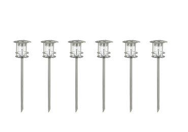 6er-Set Edelstahl Solarlampe, Außenlampe, Wegeleuchte, je 6 helle Power LEDs – Bild 2