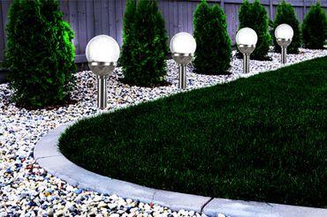 4er Set Kristallglas Premium Solarlampe Leuchte LED Edelstahl Gartenkugel  – Bild 2