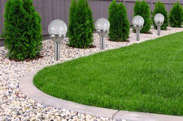 4er Set Kristallglas Premium Solarlampe Leuchte LED Edelstahl Gartenkugel  – Bild 1