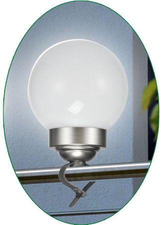 LED Zaunleuchte Solar Geländerleuchte Kugelleuchte Deko-Lampe Garten Terrasse – Bild 6