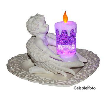 Wunderschöne Kerze LED mit Farbwechsel und Glitzereffekten im Wasser, Dekoration