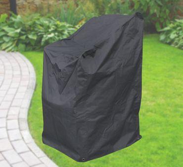 Komfort Schutzhülle für Stapelstühle, Stuhl Schutzhaube, anthrazit, 63x79x120 cm – Bild 1