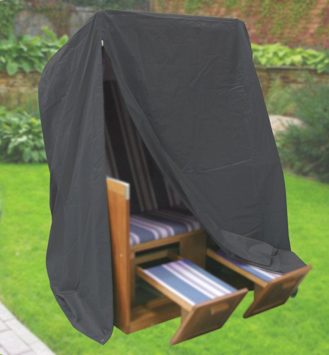 komfort schutzh lle f r strandkorb b153xt105xh170 anthrazit schwere ausf hrung garten. Black Bedroom Furniture Sets. Home Design Ideas