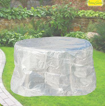 Komfort Schutzhülle für Tisch oval 160 cm, Möbelschutzhülle transparent – Bild 1
