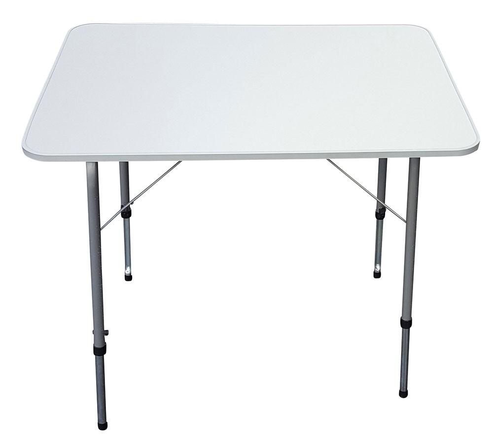 Gedeckter Tisch Im Garten: Campingtisch 80x60 Cm, Höhenverstellbar, Klapptisch