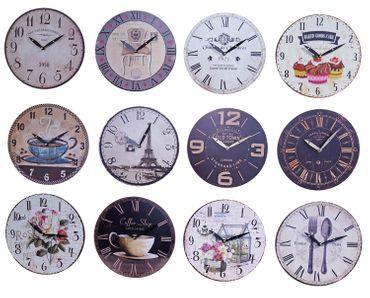 Wanduhr Ø 29 Küchenuhr Wandbehang Wanddeko Uhr 12 verschiedene Desings wählbar – Bild 1