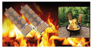 Flammlachs Bretter Set 2teilig inkl. Befestigungsmaterial  Holz – Bild 3