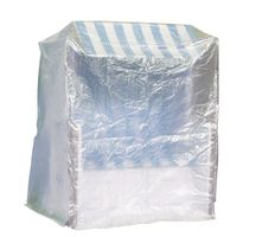 Komfort Schutzhülle XXL Abdeckung für Strandkorb B130xT108xH165 cm transparent – Bild 1