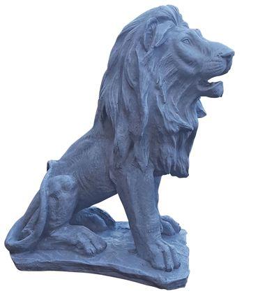 2er Set Dekofigur sitzender Löwe, Skulptur, Statue, Tierfigur, Ambiente, 46 cm – Bild 3