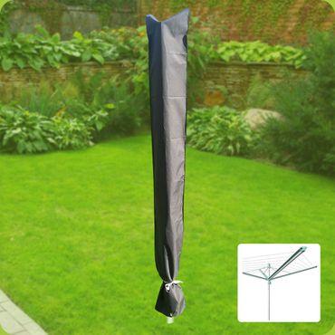 Komfort Schutzhülle für Wäschespinne 190x29cm Schutzhaube Schonbezug anthrazit – Bild 2