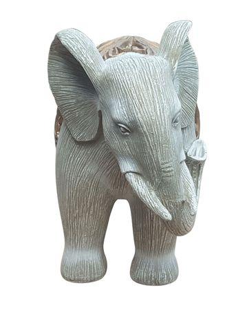 Dekofigur Elefant beleuchtet mit LED-Teelicht Afrika Skulptur Elefantenfigur – Bild 2