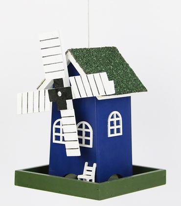 Vogelfutterhaus Windmühle mit Micro-LED-Lichterkette und Timer, versch. Farben – Bild 3