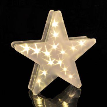 LED Deko Stern mit Hologrammfolie 3D-Effekt, Weihnachtsstern, LED-Lichterkette – Bild 1