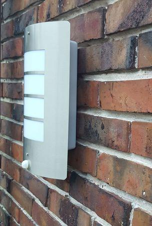 Wand-Außenleuchte mit Bewegungsmeldung Edelstahl Wandlampe Hoflampe Außenlampe – Bild 4
