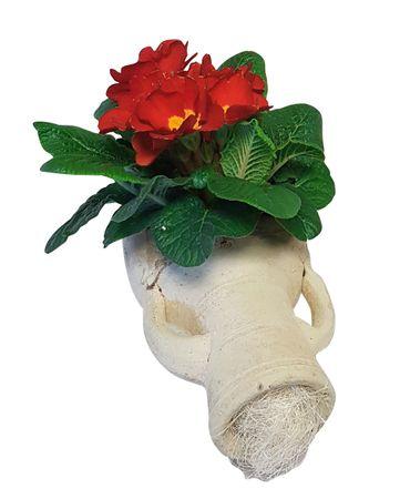 Pflanzgefäß Amphore liegend aus Terracotta Blumentopf  Garten Deko 24x11x10 cm – Bild 3