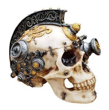 Dekofigur Totenkopf Steampunk Cyborg Totenschädel Skull Gothic Mystik Fantasy – Bild 1