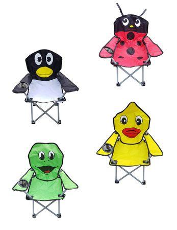 Kinder-Faltarmlehnstuhl mit Getränkehalter  DIN EN71 Kinderstuhl Campingstuhl Gartenstuhl Angelstuhl Strandstuhl verschiedene lustige Motive wählbar – Bild 1