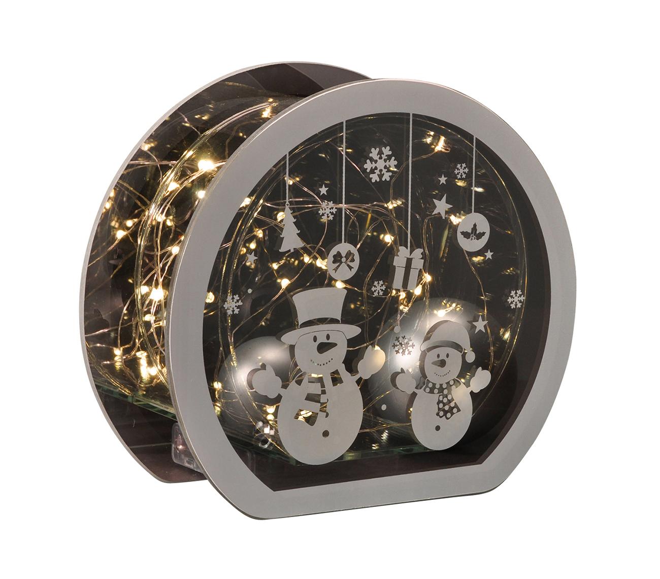 weihnachtsdeko mit led beleuchtung aus glas lichterkette endlos spiegeleffekt m bel wohnen. Black Bedroom Furniture Sets. Home Design Ideas