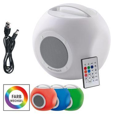 EASYmaxx LED-Bluetooth-Lautsprecher Colorcube Farbwechsel Akku In- und Outdoor  – Bild 1