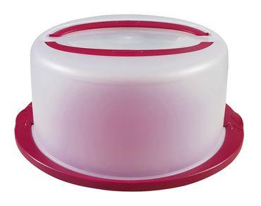 Kuchenbehälter rund mit Haube 38 x 33,5 x 16,5 cm Kuchentransportbox Ø 30 cm – Bild 3