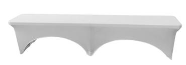 Husse weiß für Bierbank Koffer-Klappbank faltenfrei bügelfrei 183 x 30 x 43 cm  – Bild 3