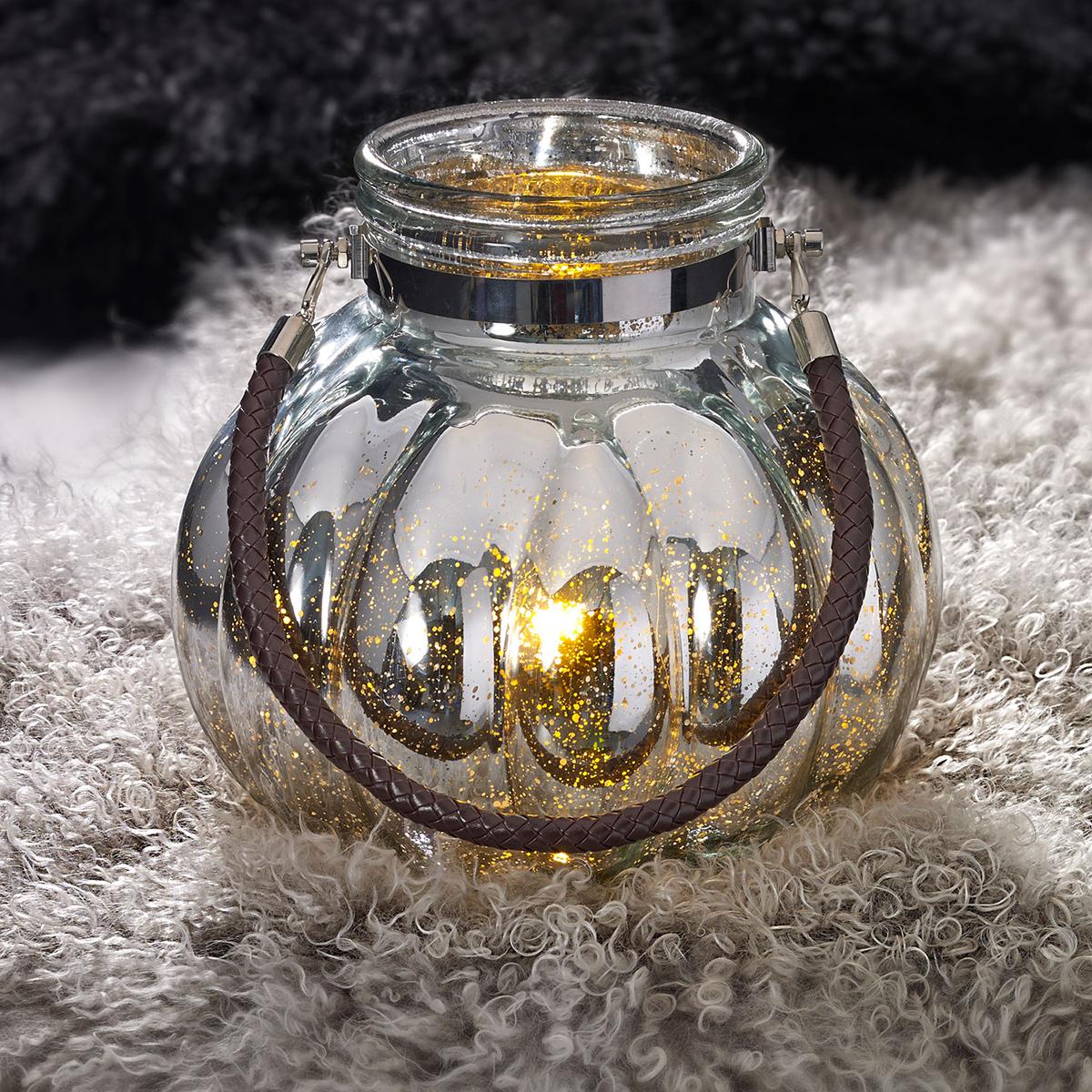 windlicht xl mit mico led lichterkette mercury glas. Black Bedroom Furniture Sets. Home Design Ideas