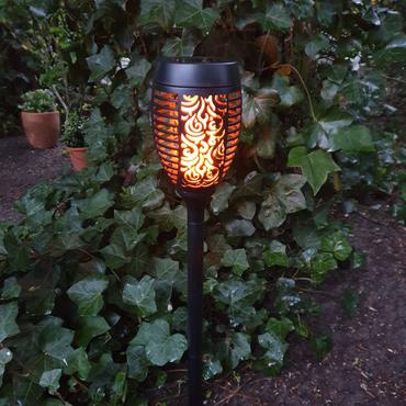 LED Solarfackel Gartenfackel mit flackerndem Flammeneffekt Gartenleuchte Deko – Bild 1