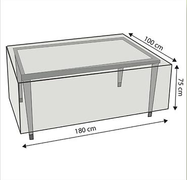 Komfort Schutzhülle für rechteckige Gartentische 180x100x75 cm transparent – Bild 3