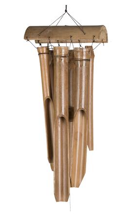 Windspiel L Bambus mit 6 Klangröhren Gartendeko Klangspiel Türglocke Feng Shui – Bild 1