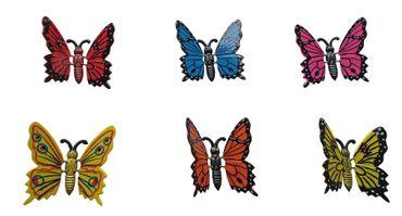 Gartenstecker Schmetterlinge 6 Stück klein Gartendeko Tierfiguren Dekofiguren