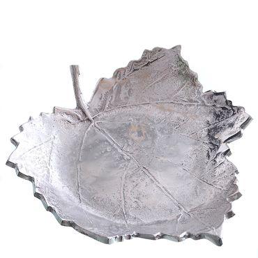 Vogeltränke Aluminium in Blatt-Form Deko-Schale Futterschale Dekoteller