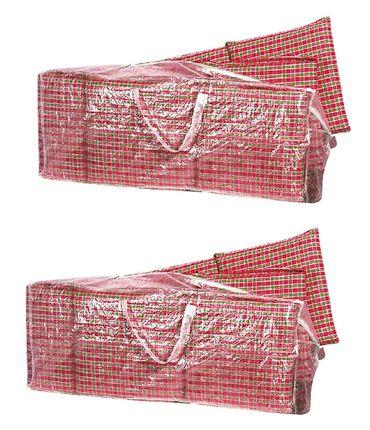 2x Auflagen Tasche Schutzhülle Hochlehner Tragetasche für Sitzkissen 125 cm PE – Bild 1
