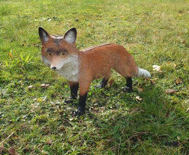 Fuchs Figur Rotfuchs stehend Tierfigur Gartendeko Dekofigur lebensecht Outdoor  – Bild 1